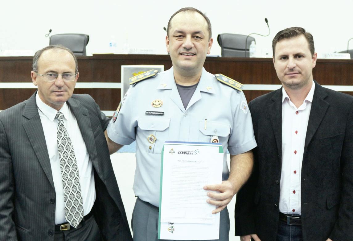 Vereadore Eliseu Serrano, Tenente Coronel Willians e presidente da Câmara Bruno Barnabé