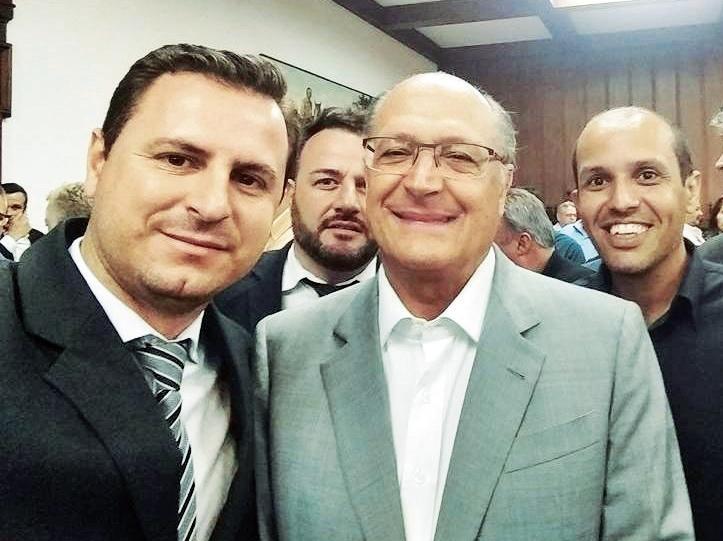 Bruno, Rogério, governador Alckmin e vice prefeito Vitor