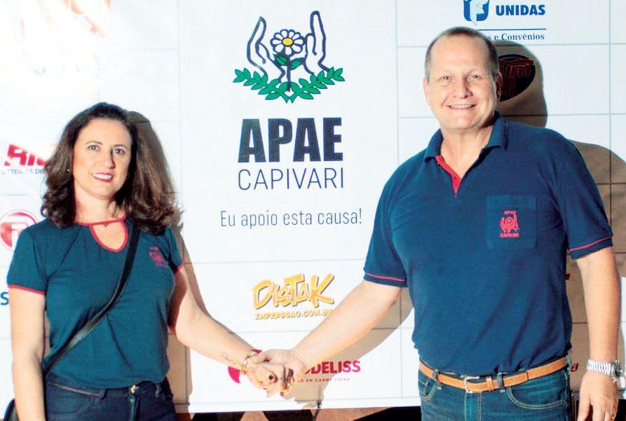 Simone/dr Alexandre, presidente da APAE Capivari
