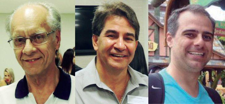 Dr Annibal C Guzzo, diretor administrativo; Dr Fernando Fávaro, coordenador da Santa Casa e Dr Cláudio Fávaro, coordenador Pronto Socorro