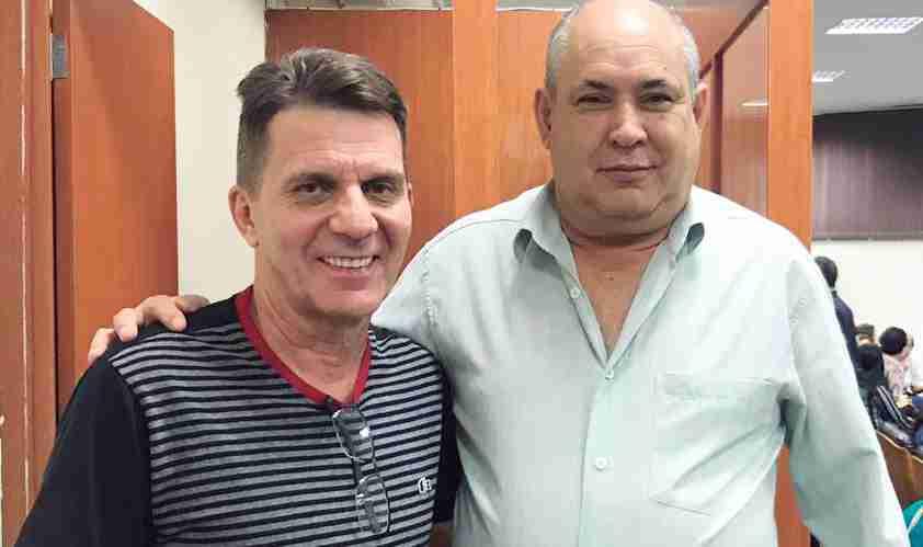 Zatinha e o prefeito Carlos, de Rafard, no evento